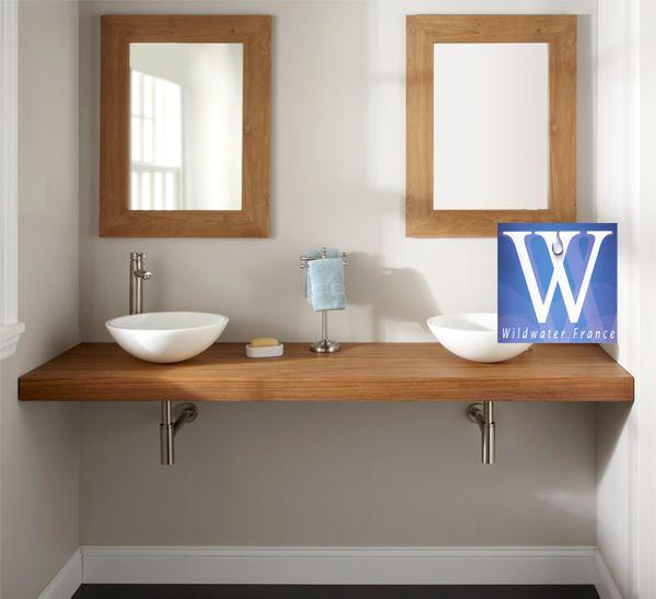 plan de travail en teck pour salles de bain 2 salle de bains salle de bain pinterest teck plans et salle de bains