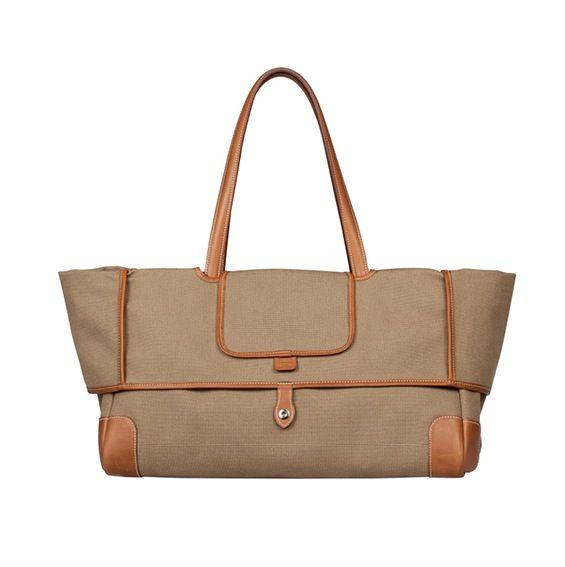 Brown Canvas Tote Bag - S S 2014  e3895ce9721b5