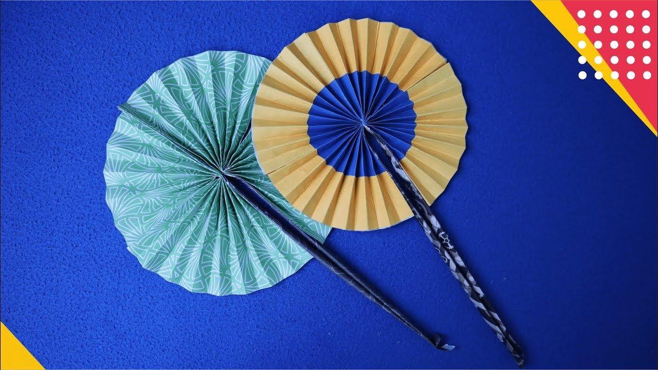 Wow Cara Membuat Kipas Lipat Dari Kertas Origami Mudah Banget How T Kipas Origami Kertas Origami