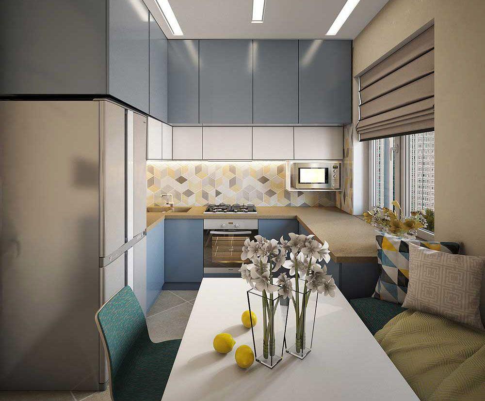 Современный дизайн кухни 8 кв. м: 50 фото | Дизайн кухни ...
