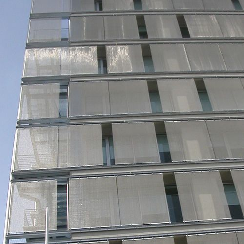 Wire solar shading mesh / for facades / stainless steel / square mesh DOKAWELL-MONO 3001 HAVER & BOECKER OHG
