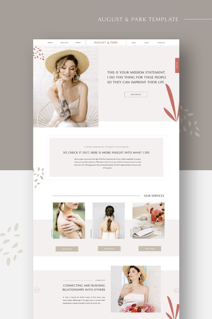 AugustandPark Showit Website Template