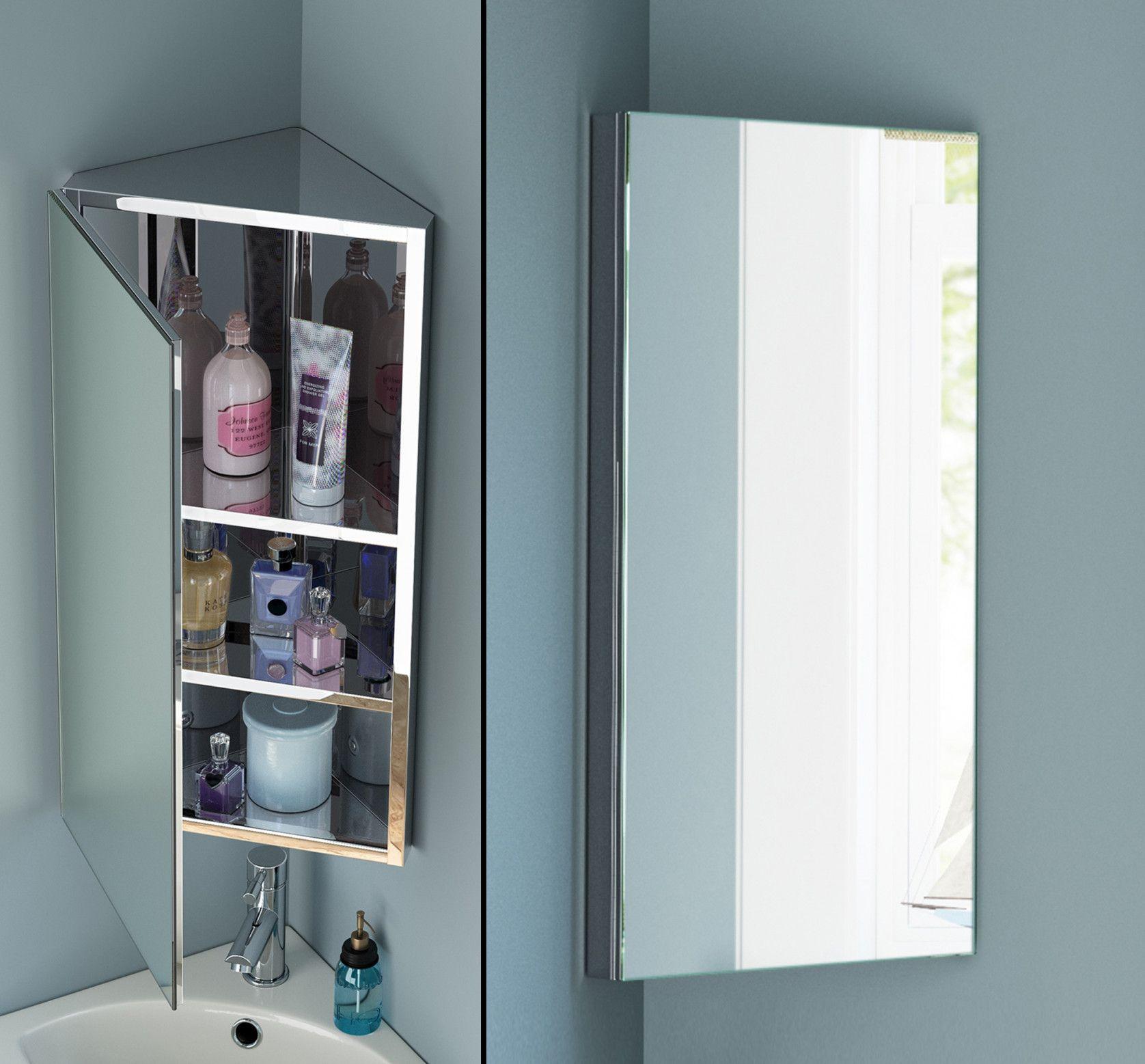 77+ Bathroom Corner Mirror Cabinet - Kitchen Shelf Display Ideas ...