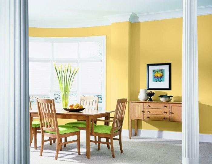 Esszimmer Farbe Frisch Gelb