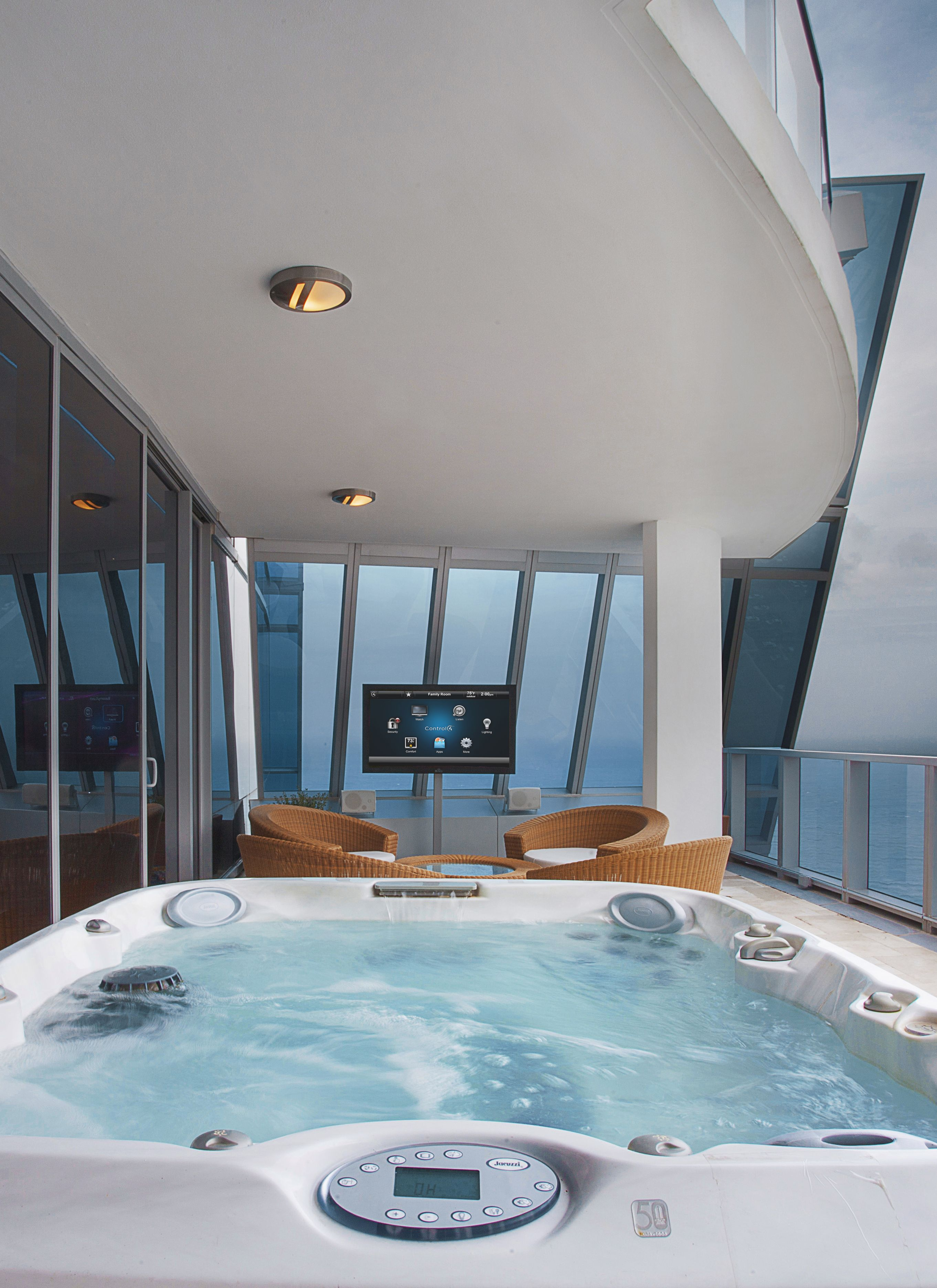 With the press of a button your hot tub, TV, and lighting can all ...