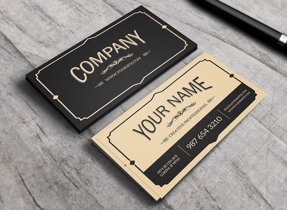 Yukon Business Card Vintage Business Cards Retro Business Card Vintage Business Cards Template