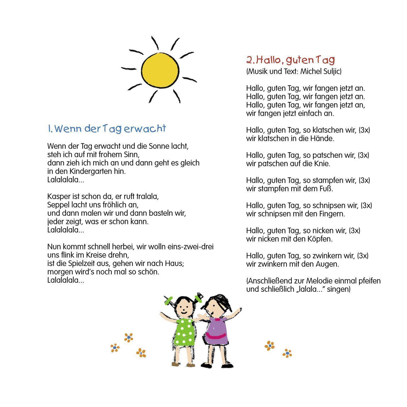 Pin Von Maria Auf Texte Auf Deutsch Begrüßungslied