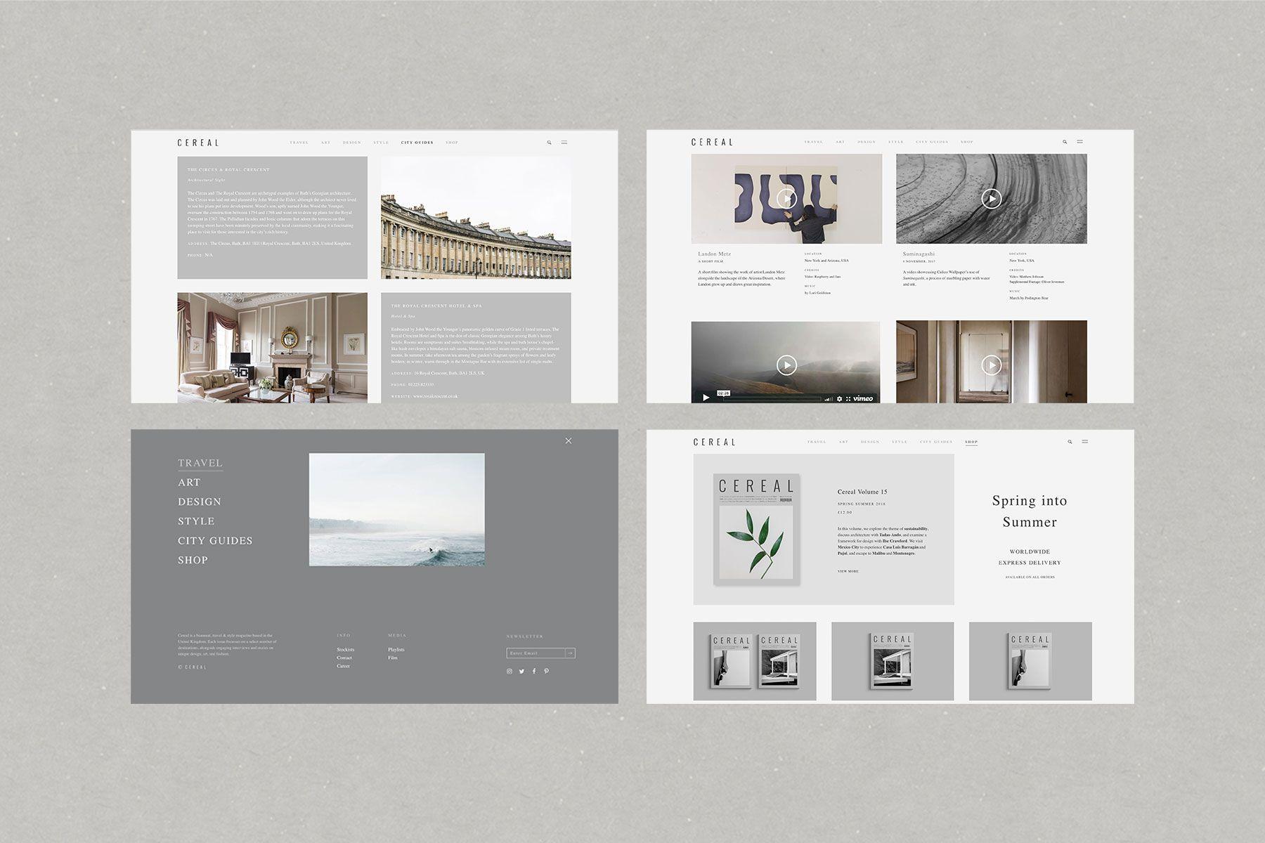 Faculty Cereal Website Graphic Design Studios Web Design Inspiration Web Development Design