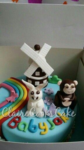 Cbeebies inspired cake baby jake Amelies 1st birthday