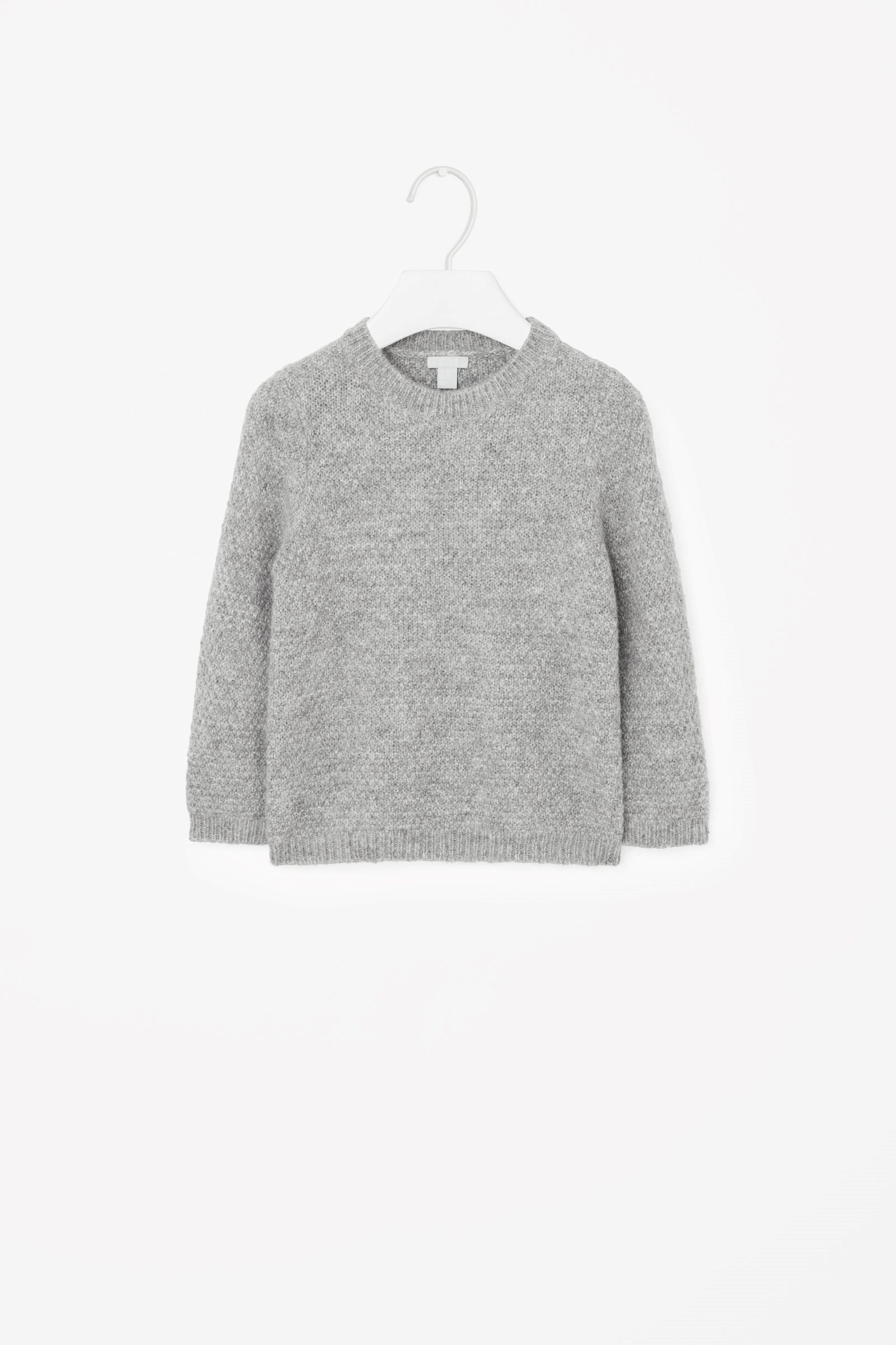 25f54e12912f COS image 1 of Structured knit jumper in Grey   Petit   Men sweater ...