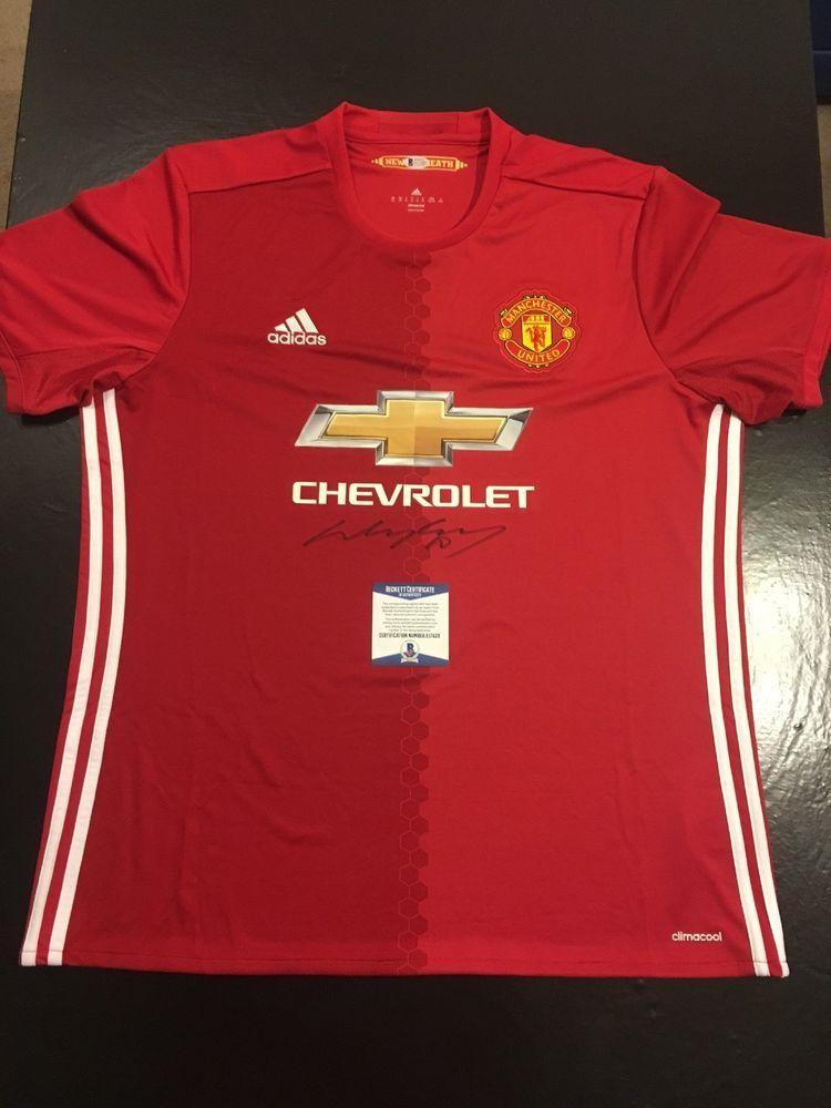 b626b940b68 Wayne Rooney Manchester United Autographed XL Jersey BAS Beckett Cert (JSA  PSA) (eBay Link)