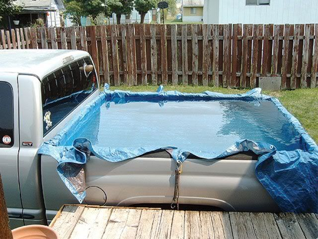 Your Truck S Bed Doubles As A Pool Pool Pool Time Diy Hot Tub