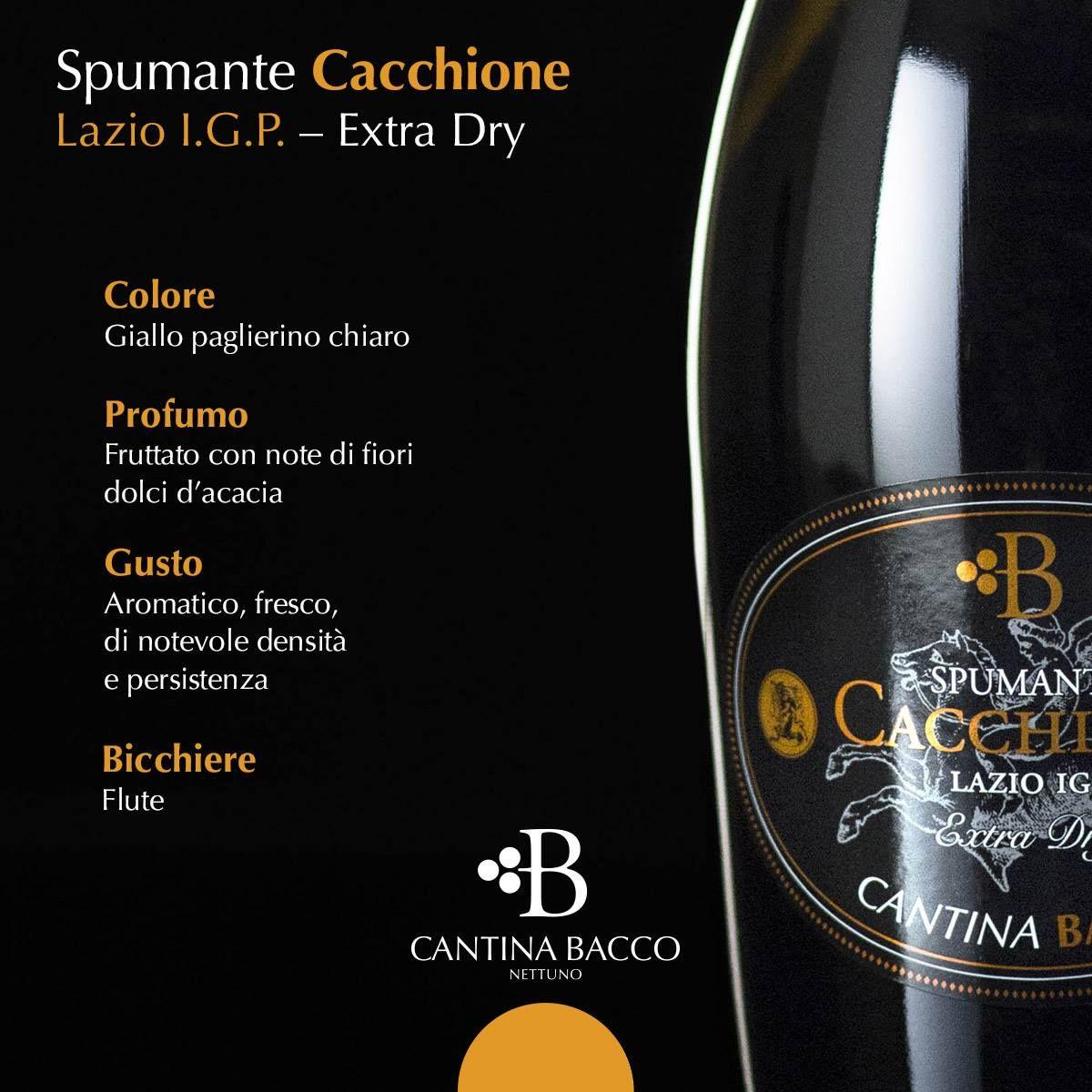 Mazzo Di Fiori E Spumante.Spumante Cacchione Lazio I G P Extra Dry Color Light Straw