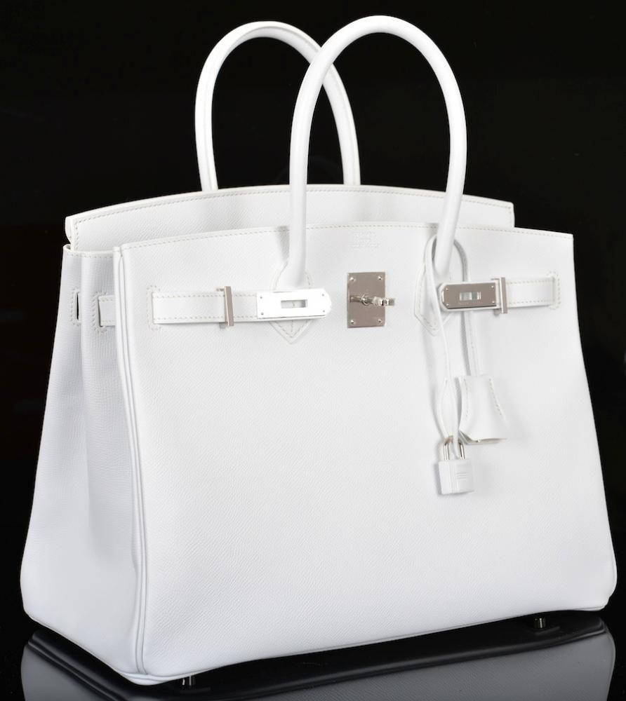 Emmy DE   Hermès Birkin Bag 35cm White Epsom Palladium Hardware ... be209e87b0