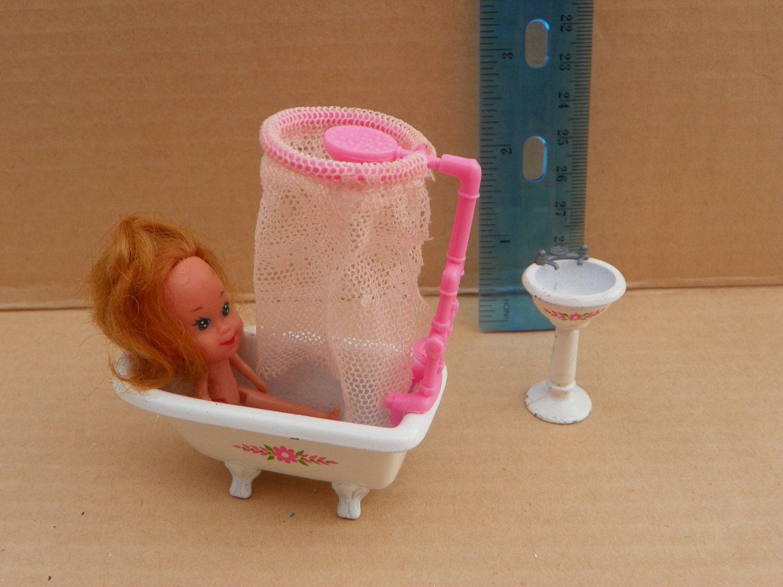Vintage Mattel - The Littles - Miniature Die Cast Doll Furniture Set ...