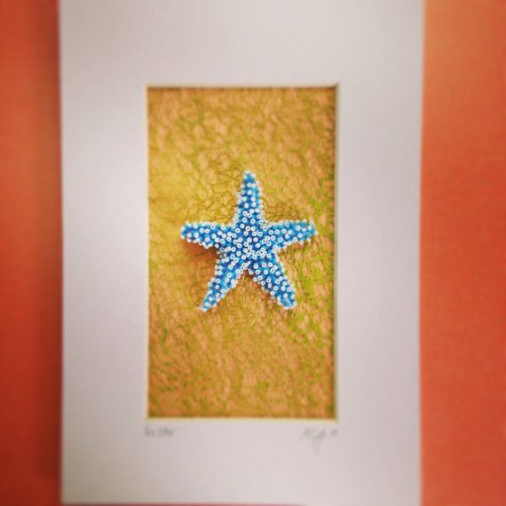 Bead Embroidered Seastar by Epigman on Etsy
