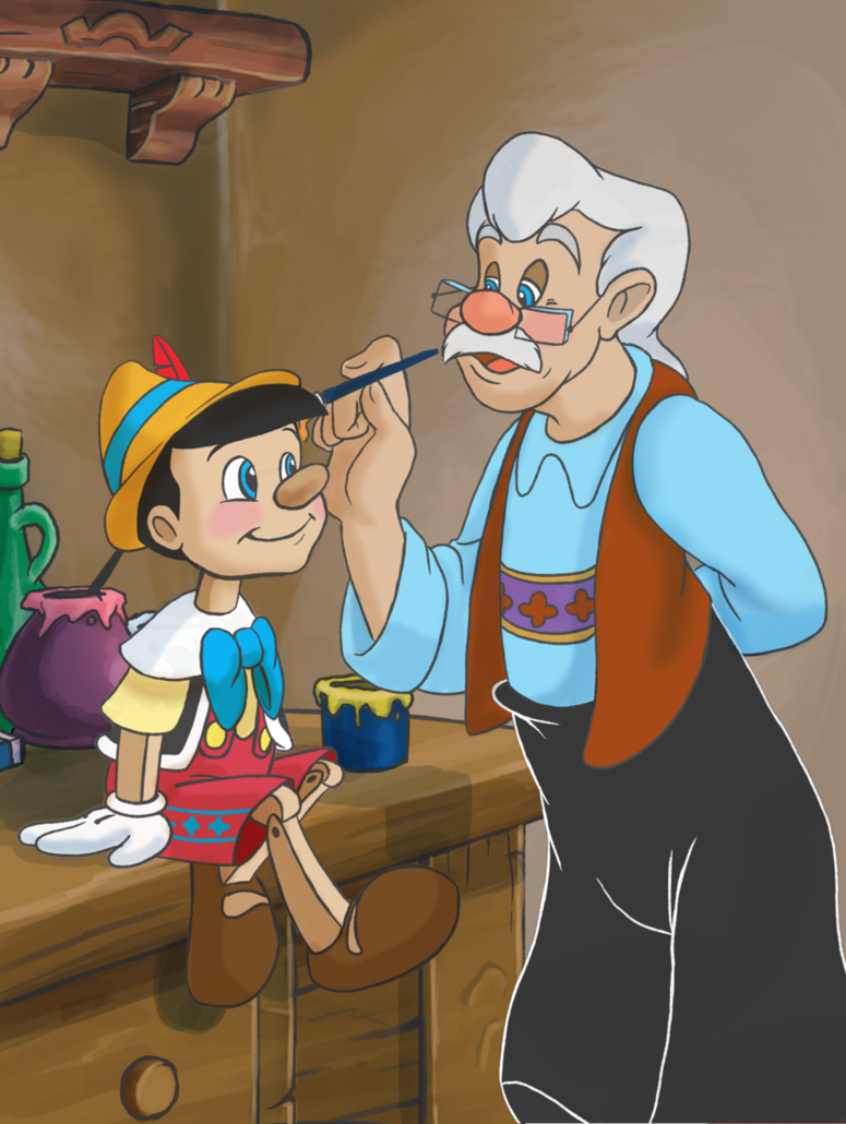 PINOCCHIO & MR. GEPPETTO ~ Pinocchio, 1940   Personajes de dibujos ...
