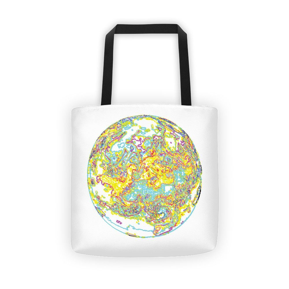 Abstract Earth White Tote