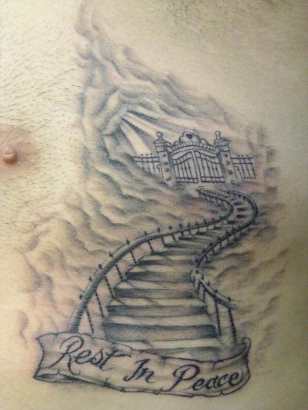 stairway to heaven tattoo gallery stairway to heaven photos from first class tattoos 1st class. Black Bedroom Furniture Sets. Home Design Ideas