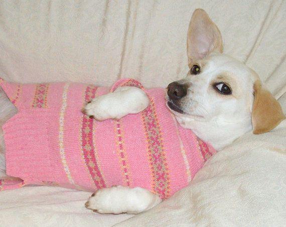 Dachshund sweater Fair Isle pink angora blend | Dachshunds ...