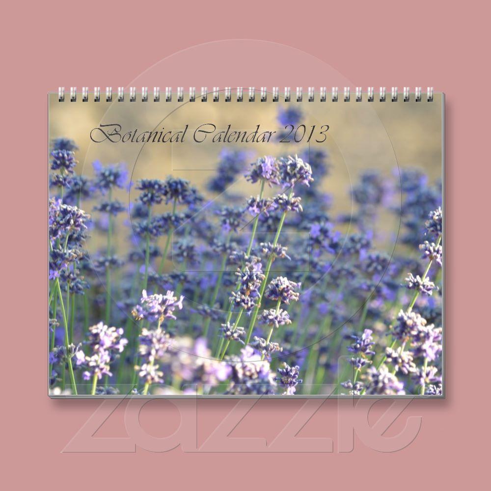 Botanical Calendar 2013 Photography from Zazzle.com