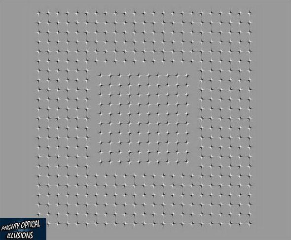 This Is A Still Image But If You Move Your Eyes Around The