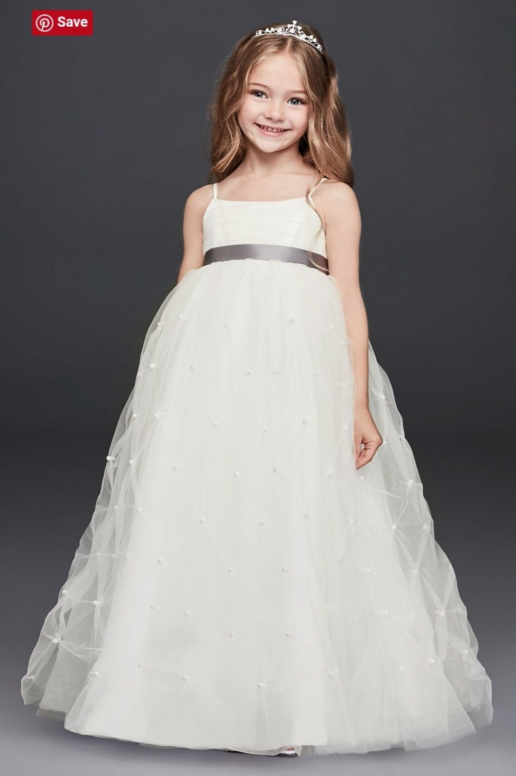 Flower girl dress from davidus bridal pageant dress wedding Çocuk
