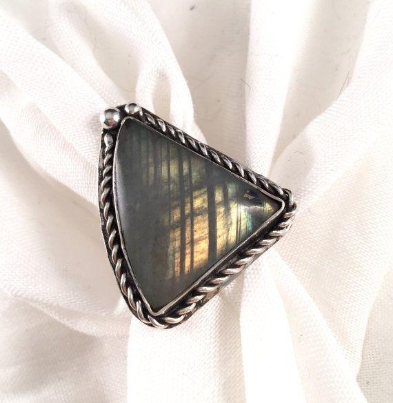Labradorite Ring Labradorite Labradorite Jewelry by DaedraJewelry