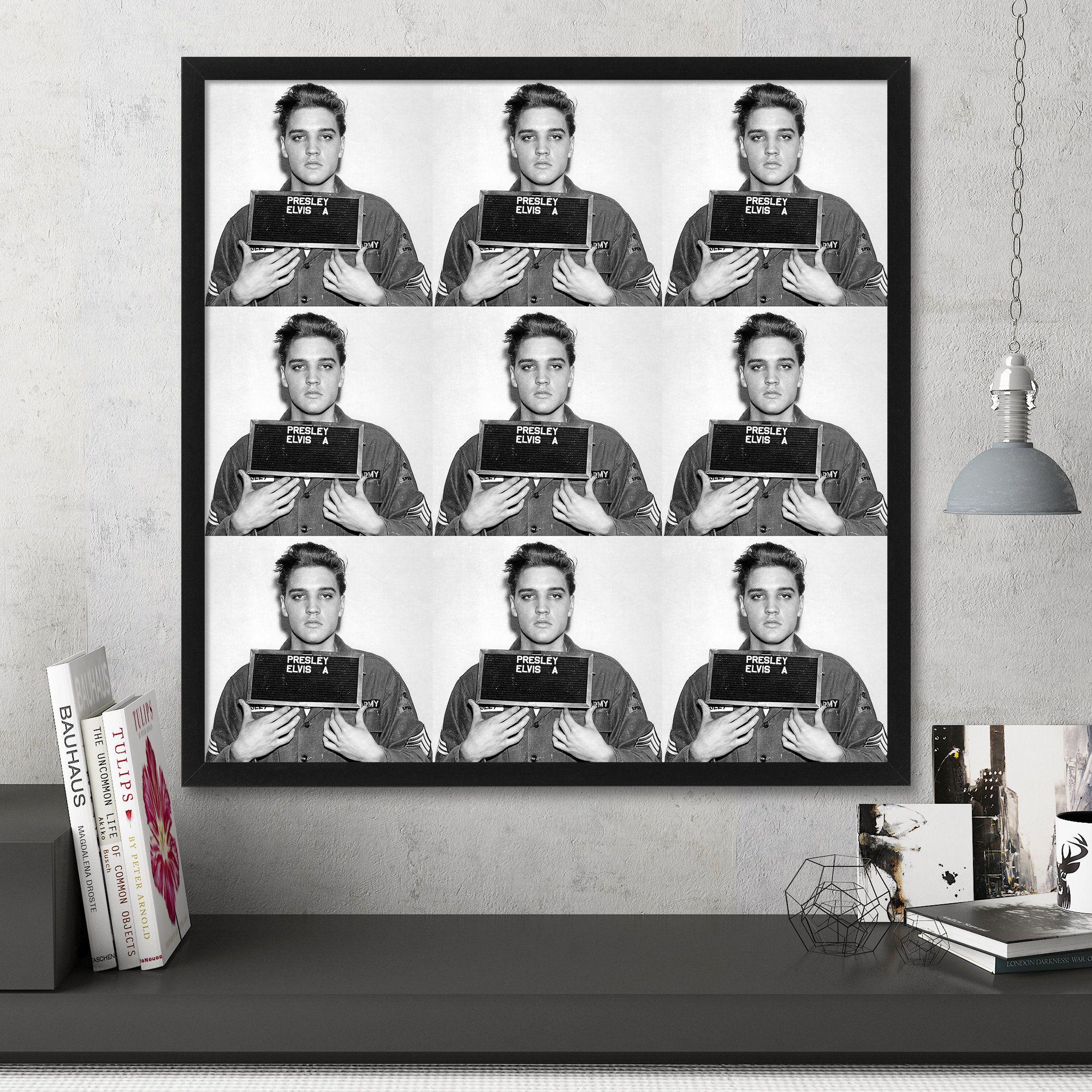 Elvis Mugshot Print, Large Wall Art, Pop Art, Celebrity