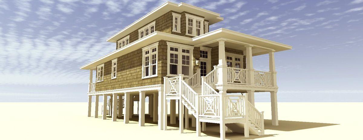 Plan 44116TD: Low Country Beach House Plan | Beach house plans ...
