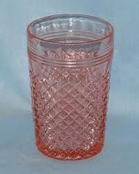 Miss America water glass