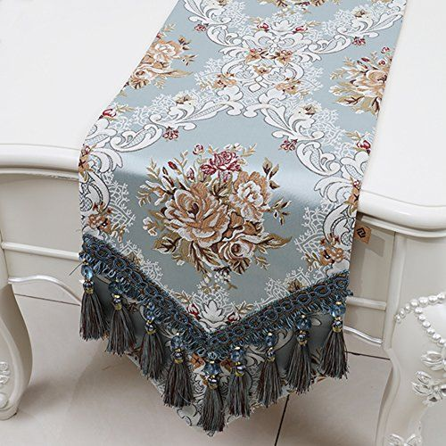 European Style Luxury Table Runner Mediterranean Dining Table