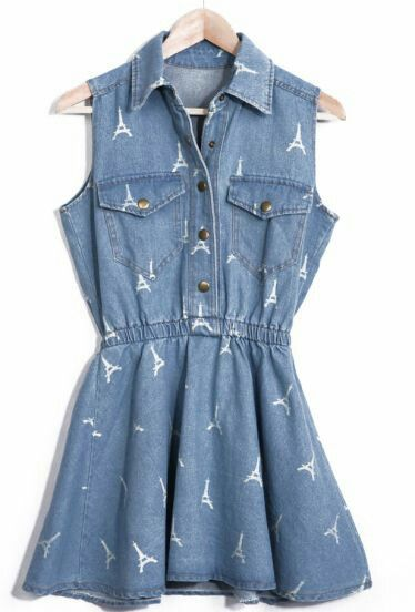 Adirable eiffel tower print dress, would look cute with some knee high socks and converse I think