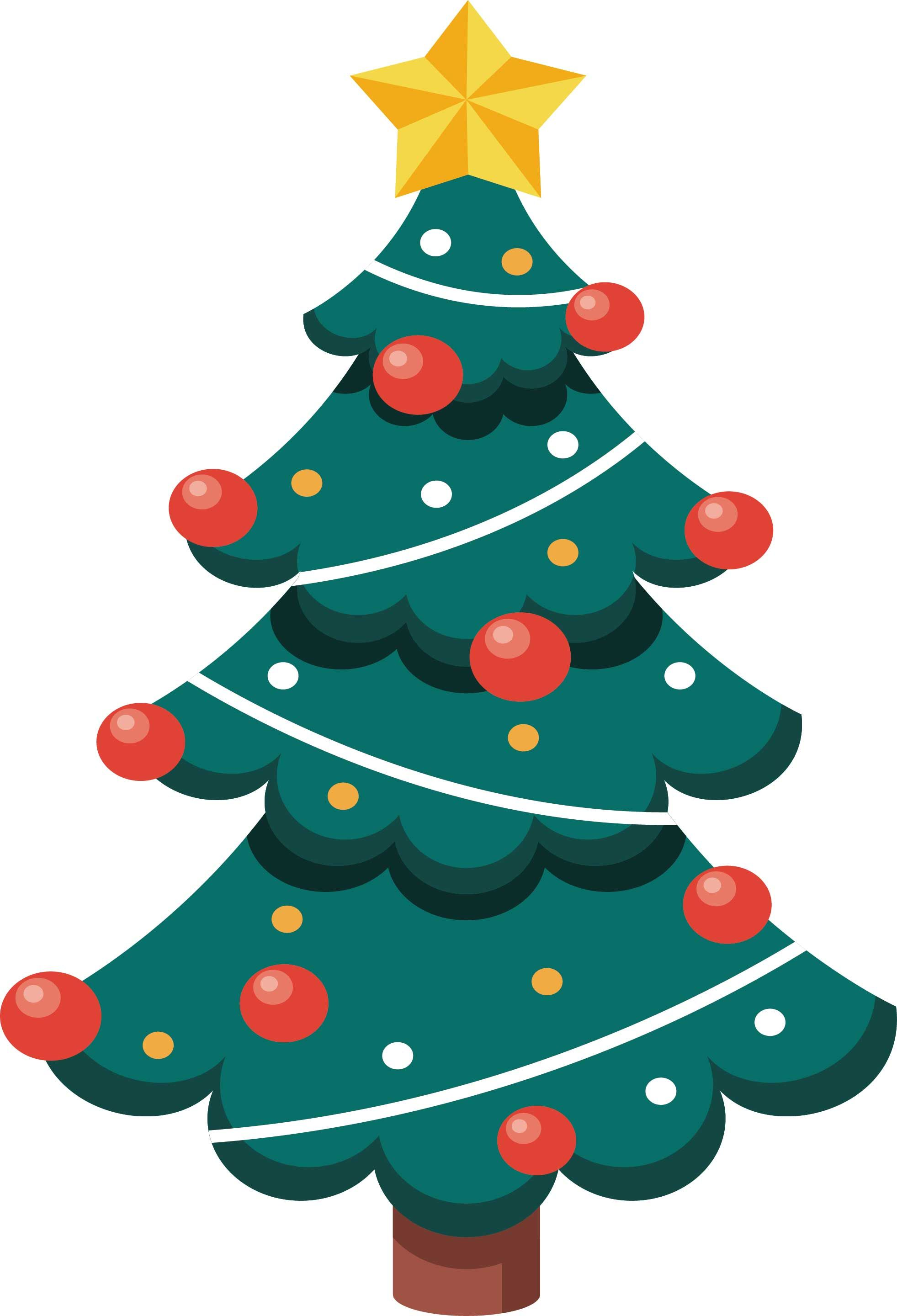 15 Charming Christmas Tree Vector Free Download (con imágenes)