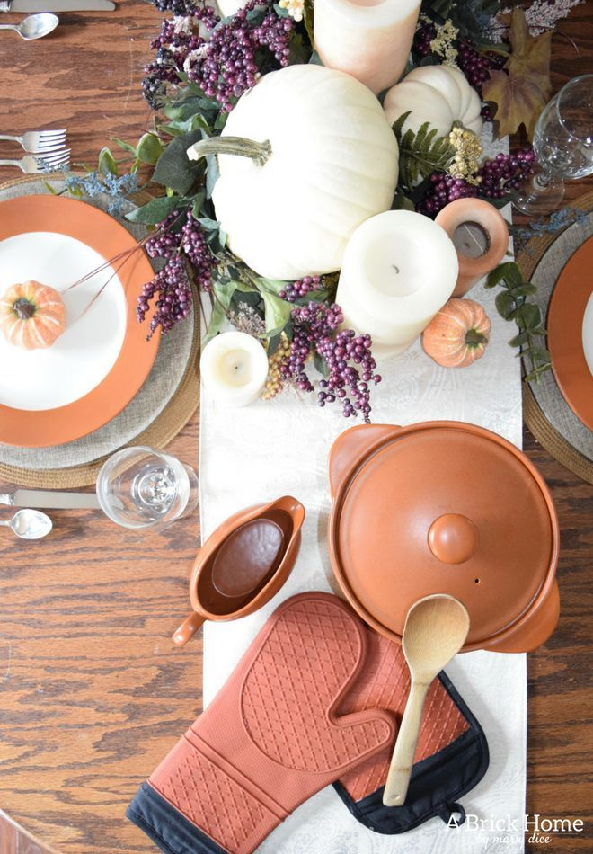 Lilac  Terra Cotta Thanksgiving Table Decorations For the Home