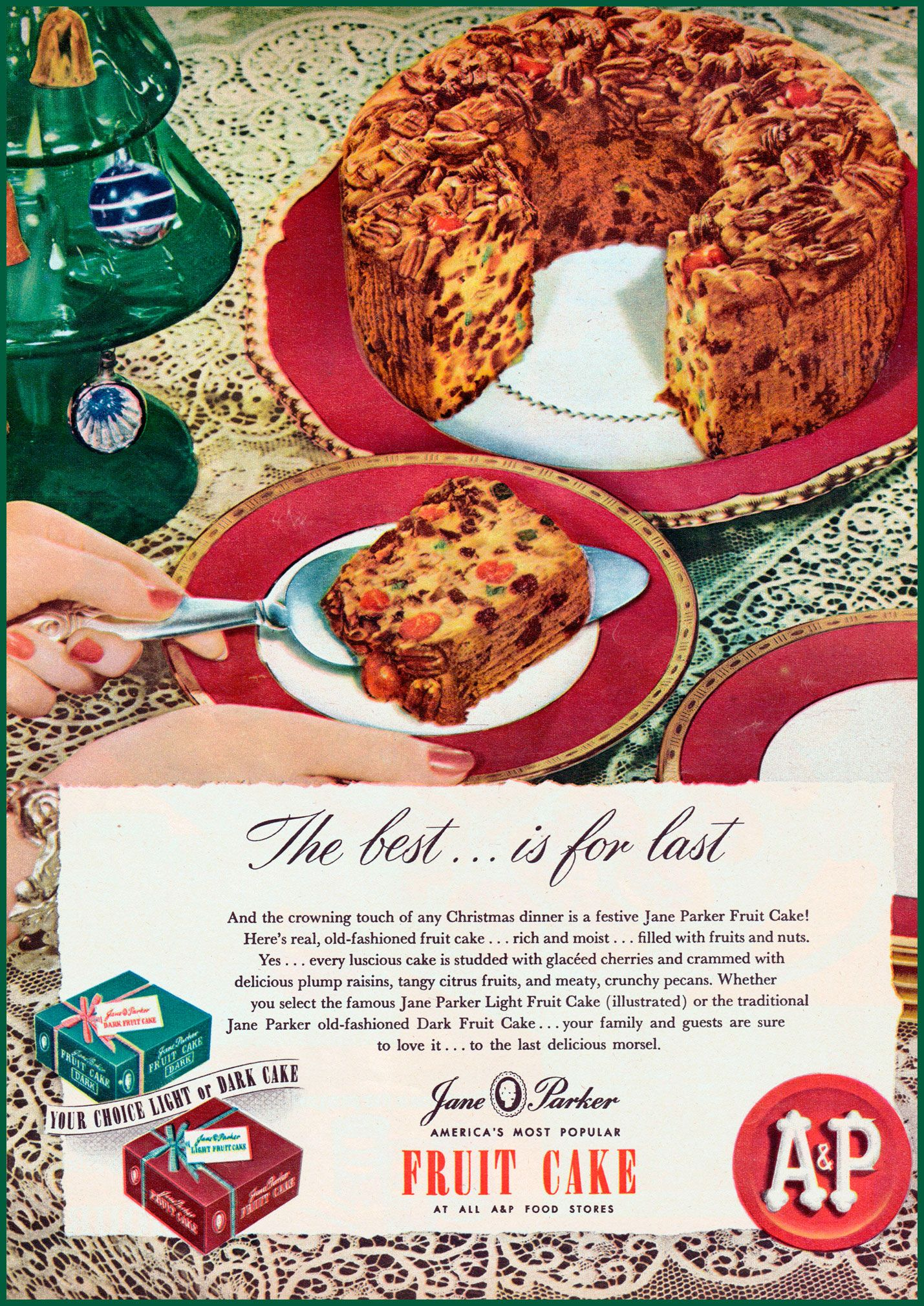 jane parker fruit cake ingredients