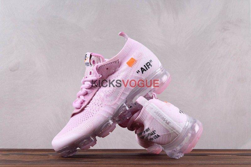 f3d12c2e628 Custom Off-White x Nike Vapormax Flyknit  Rose Petal