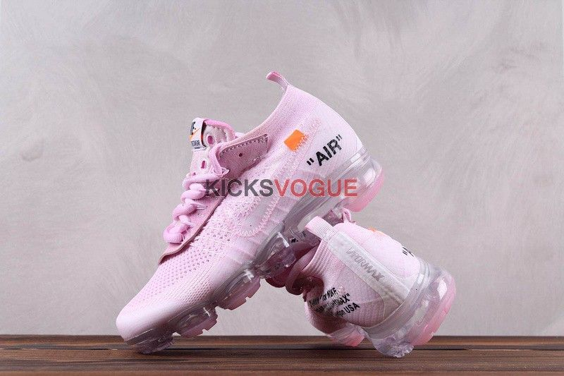 Custom Off White x Nike Vapormax Flyknit 'Rose Petal