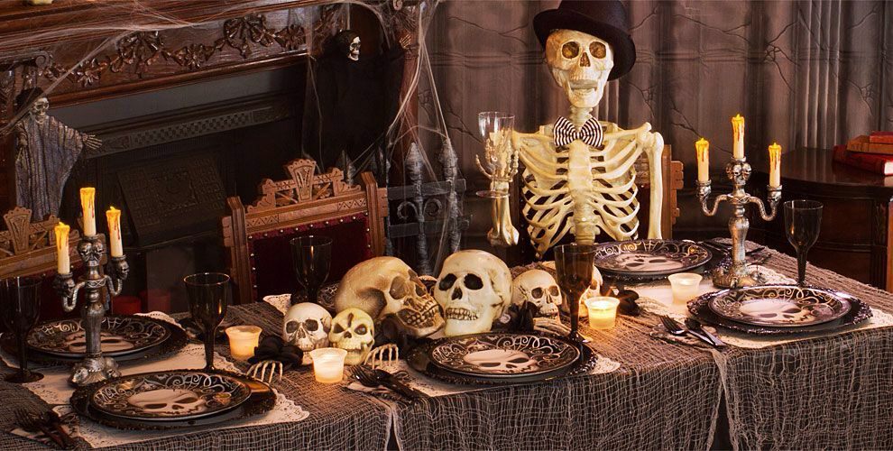 Bone appeti lol This is Halloween Pinterest Themed parties - halloween party decorations cheap