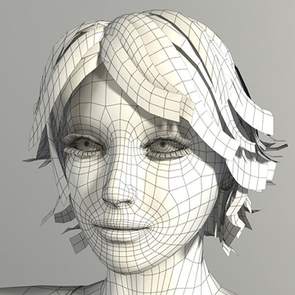 3d modeling hair Google Search 3d Topology Pinterest