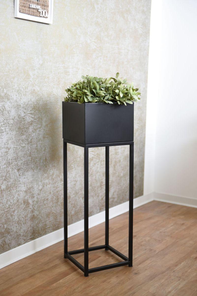 Blumentopf Auf Stander Mit Beinen Elevate Square Schwarz Matt