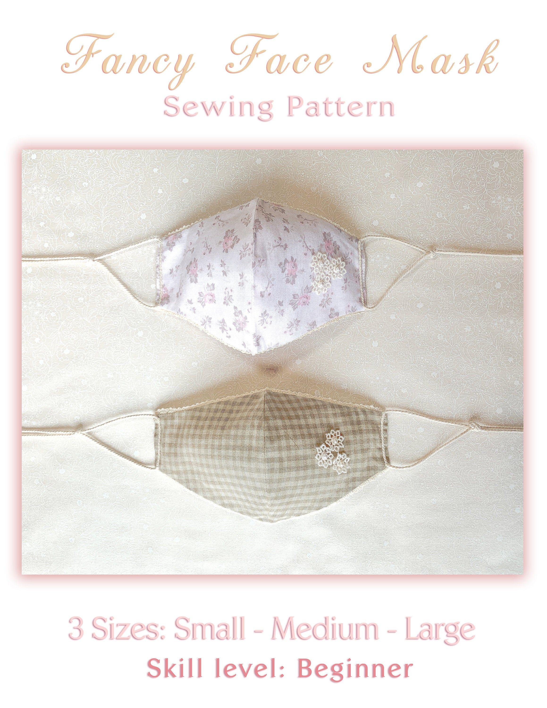 Face Mask Pattern No Elastic 3 Sizes Cotton Fabric Reusable Pdf