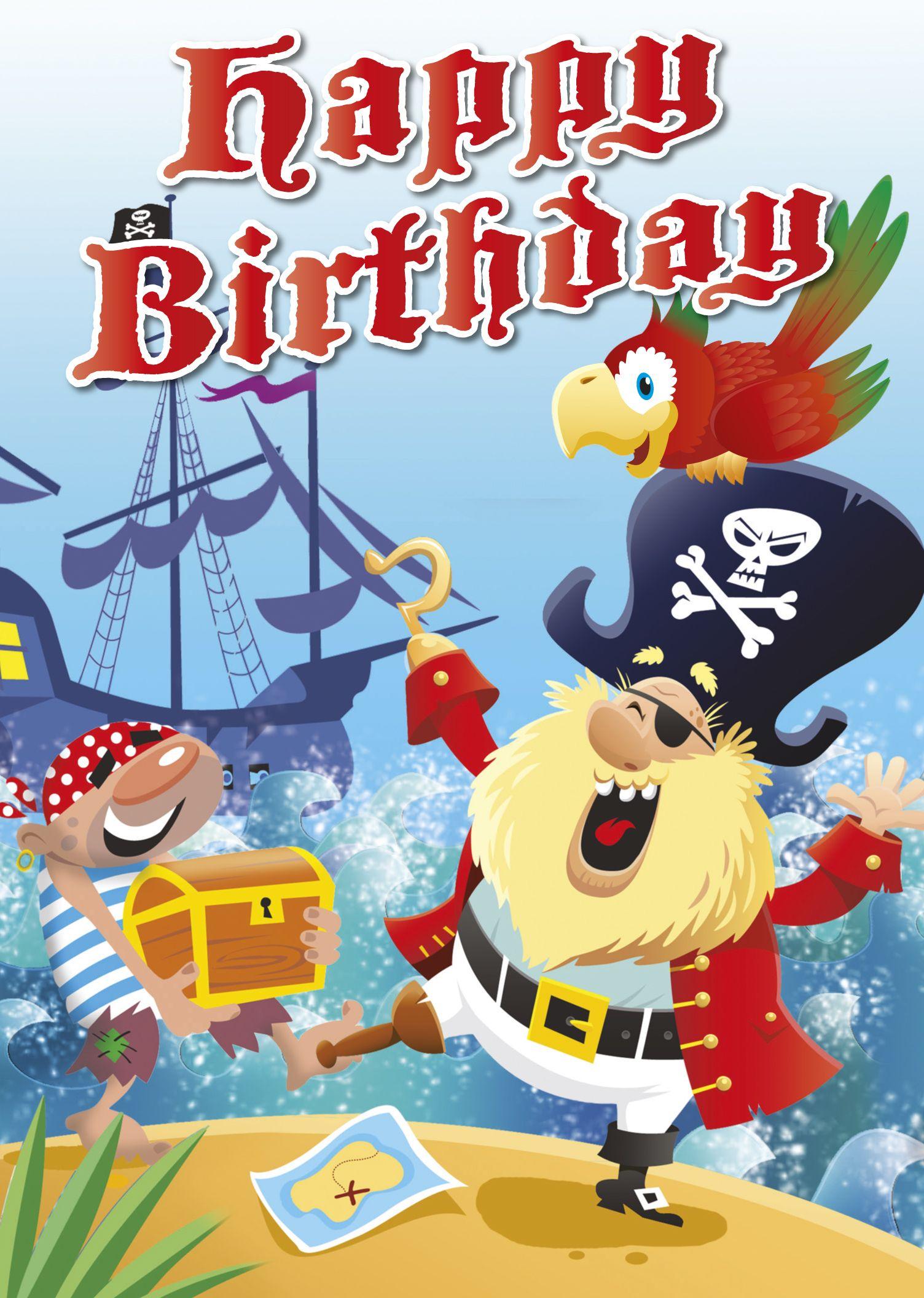 Pirates Happy Birthday – Pirate Birthday Card Sayings