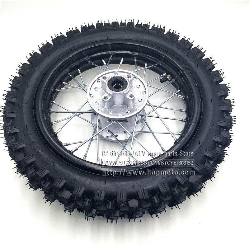 80 100 12 Guangli Tyres 1 85 12inch Rear Steel Rims Brake Disc Plate Wheel Rims Hub Crf50 Apollo 110 Kayo Chinese Dirt Pit Bike Wheel Rims Pit Bike Steel Rims