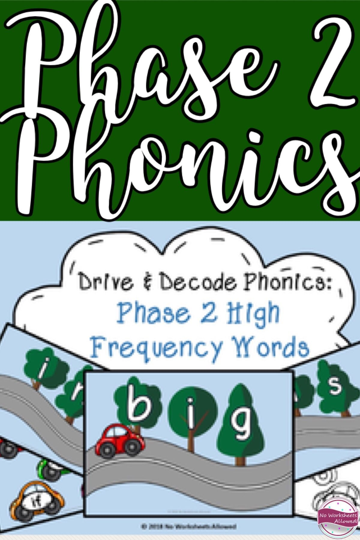 Phase 2 Phonics High Frequency Words Blending Activity