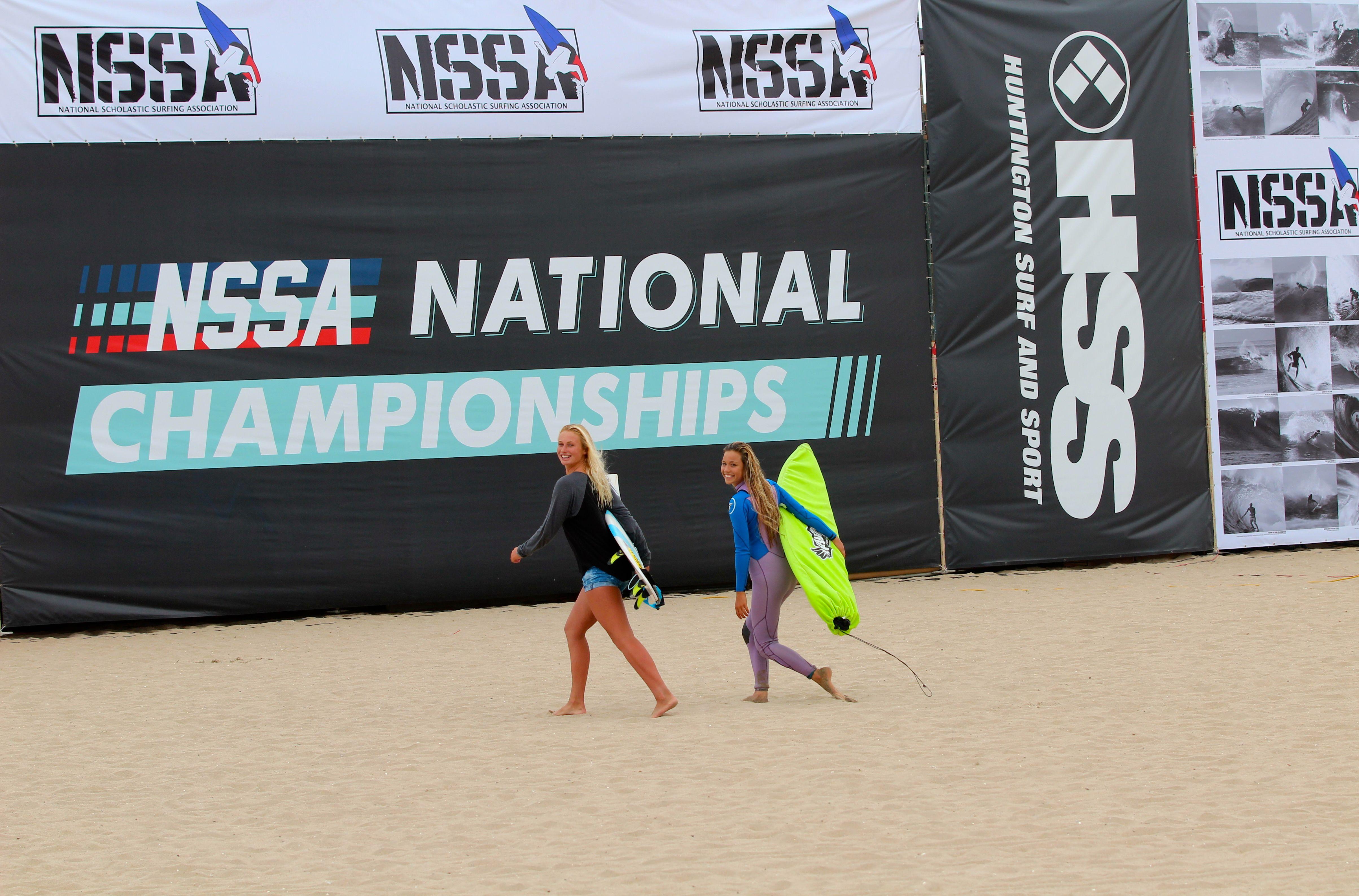 Volcom Surfers Dax Mcgill And Tia Blanco At Nssa In Huntington Beach