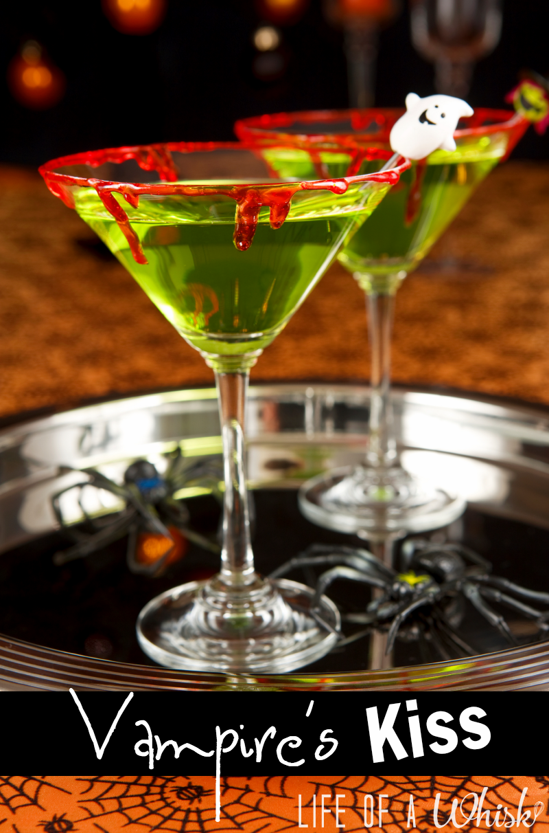 Vampire's Kiss (Green Halloween Drink) Adult and Kid