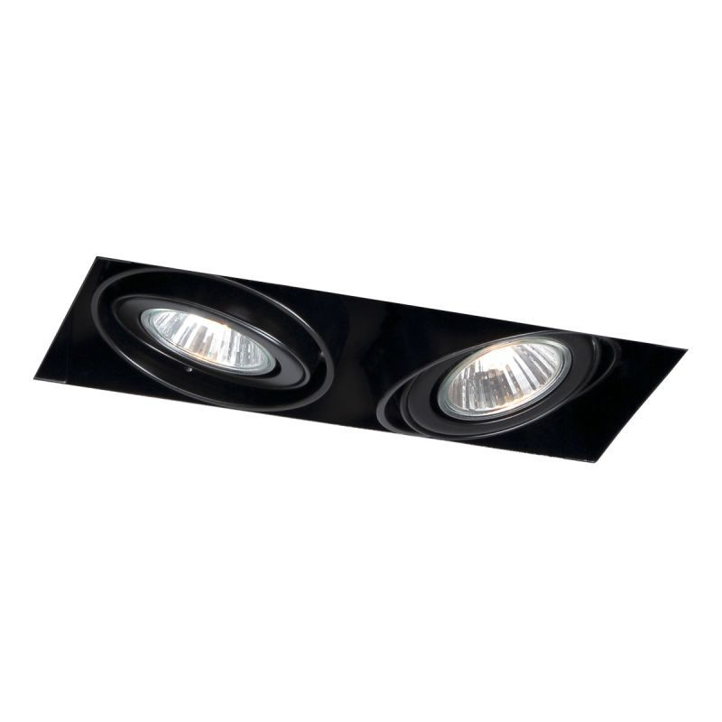 Eurofase lighting te212gu10 2 light 9 trimless multiple recess black recessed lights recessed trims trimless