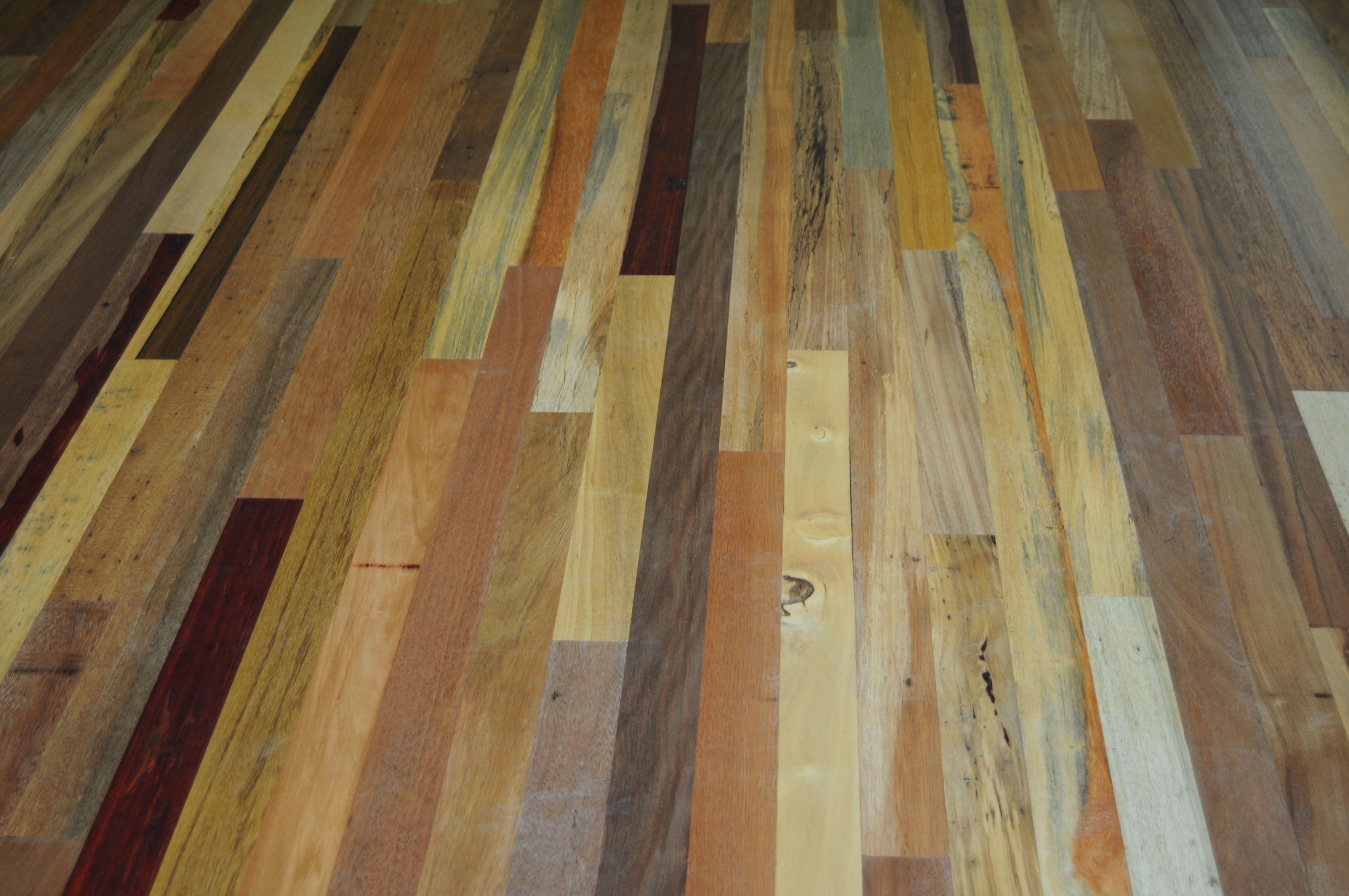 hardwood floors  Detail of reclaimed mixed exotic