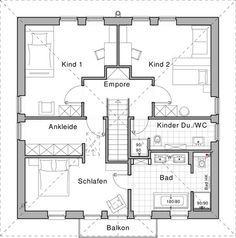Grundriss einfamilienhaus modern obergeschoss  Grundriss Obergeschoss: Plusenergiehaus Life von Viebrockhaus ...